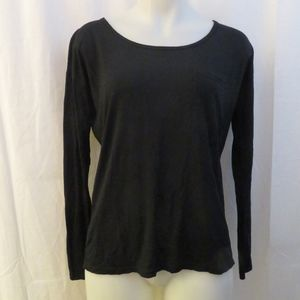 HAUTE HIPPIE LONG SLEEVE SCOOP NECK TOP  XS